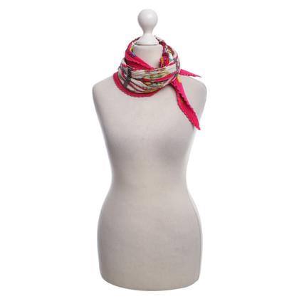 Hermès sciarpa di seta a pieghe