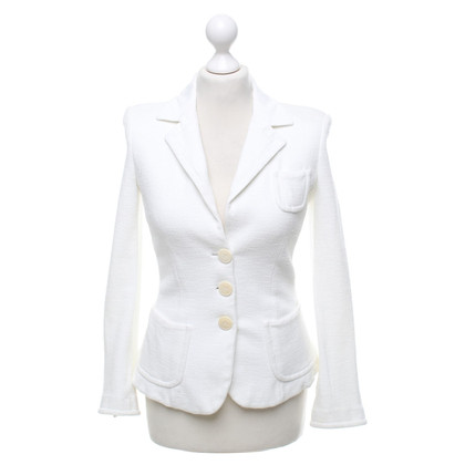 Armani Collezioni Blazer in crema bianca