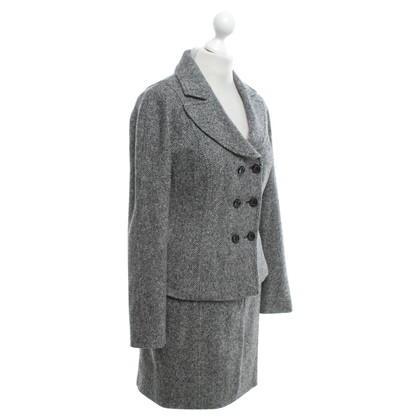 Marc Cain Costume with herringbone pattern