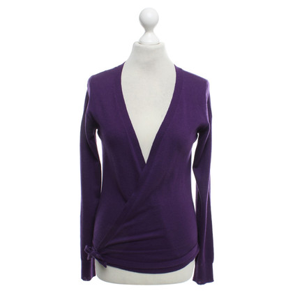 Closed Wickel-Strickjacke in Violett
