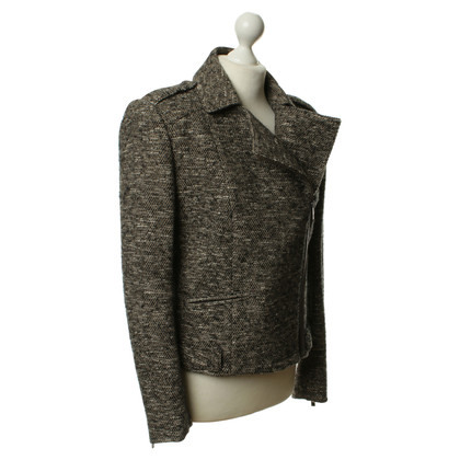 Boss Orange biker jacket gray tweed