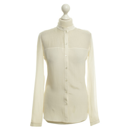 Joseph Cream colored silk blouse