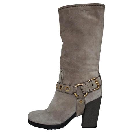 Car Shoe Wildleder-Stiefel Grau