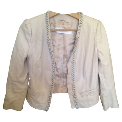 Elisabetta Franchi Jacket leather beige