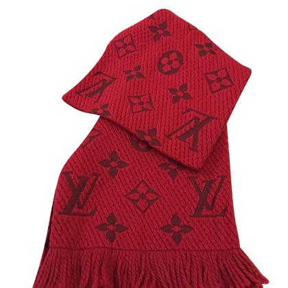 """Louis Vuitton """"Logomania Schal"""" in Rot"""