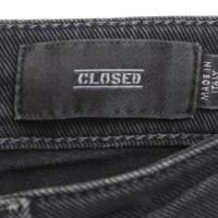 Closed Bikerjeans in grey