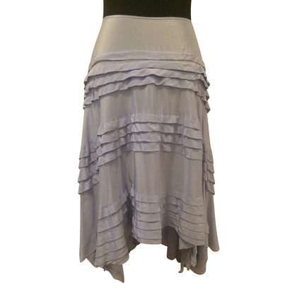DKNY skirt asymmetrical silk
