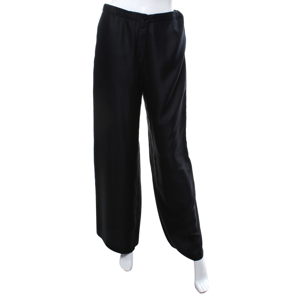 Calvin Klein Pantalon en soie noir