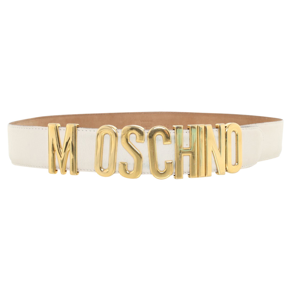 moschino leder g rtel in creme second hand moschino leder g rtel in creme gebraucht kaufen f r. Black Bedroom Furniture Sets. Home Design Ideas