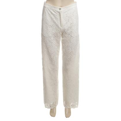 Valerie Khalfon  White Lace trouser 40