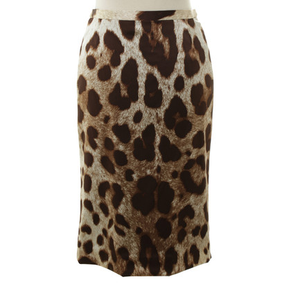 Dolce & Gabbana Gonna con stampa leopardo