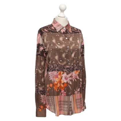 Maliparmi Silk blouse with a floral pattern