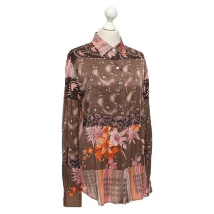 Maliparmi Camicetta di seta con motivo floreale