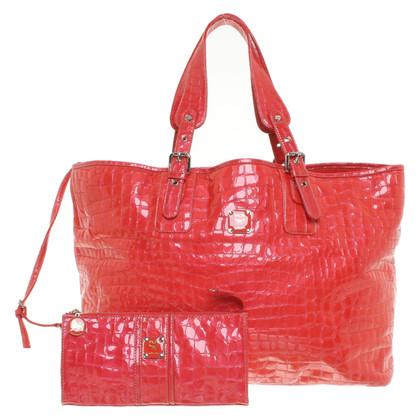 MCM Shopper in het rood