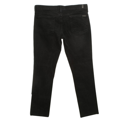 7 For All Mankind jean noir avec broderie