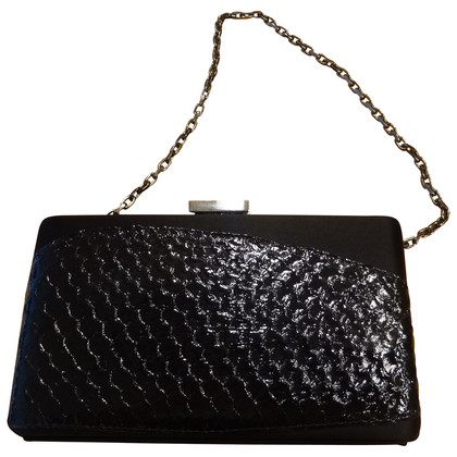 Escada Black Leather Shoulder Bag