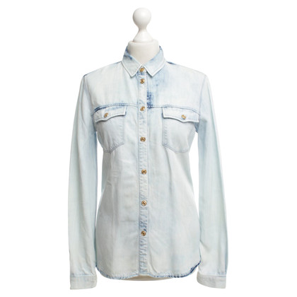 7 For All Mankind Jean blouse in lichtblauw