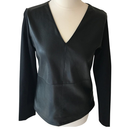 DKNY Synthetic leather shirt