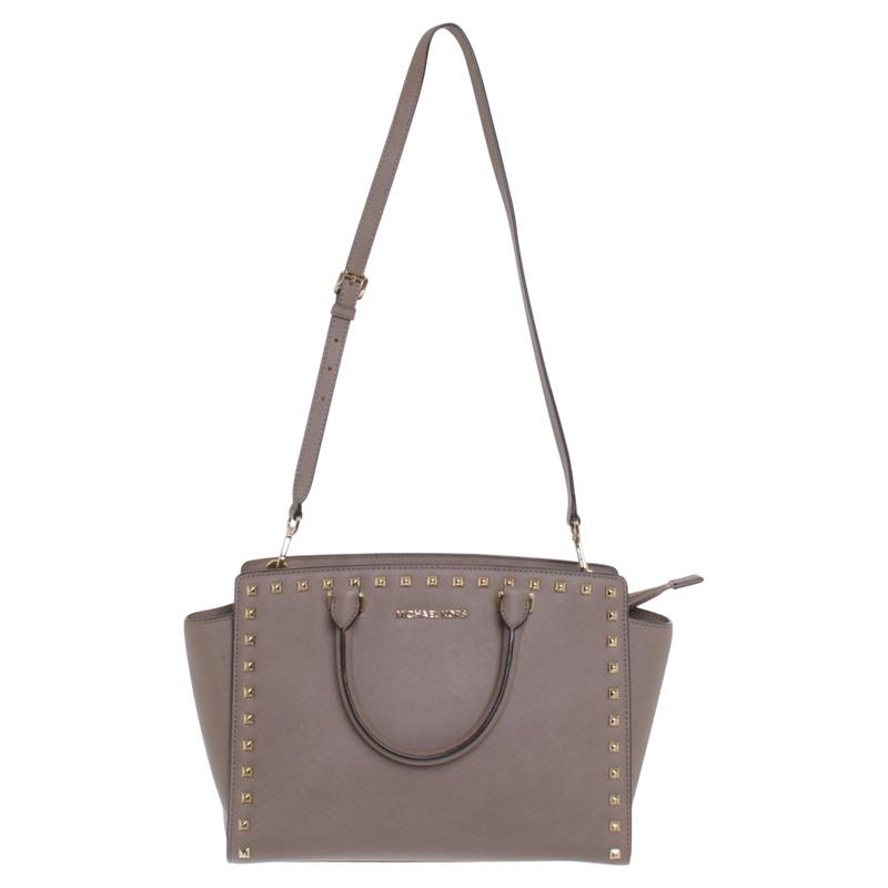 a6efe24f4d ... leather medium satchel tote bag purse pearl grey michaelkors  totesshoppers c703c 2ac5a  official inexpensive michael kors selma tote bag  e28ee bde0a ...