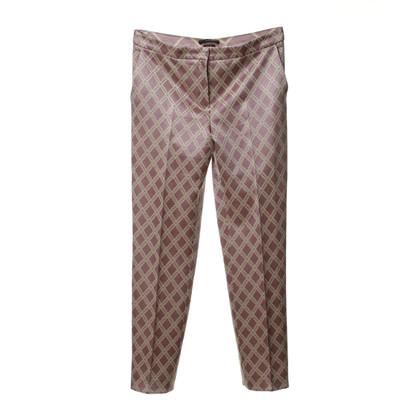 Odeeh Pantalon de motifs en rose cendré