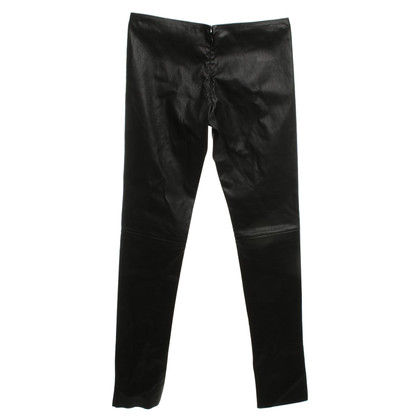 Jitrois Black pants made of leather