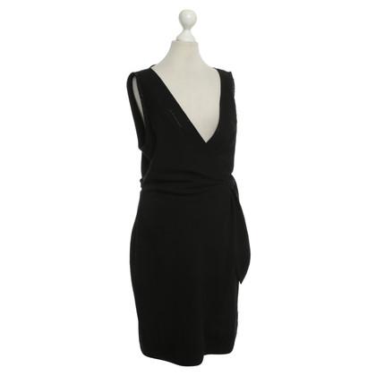 Diane von Furstenberg Zwarte jurk met decoratieve stenen