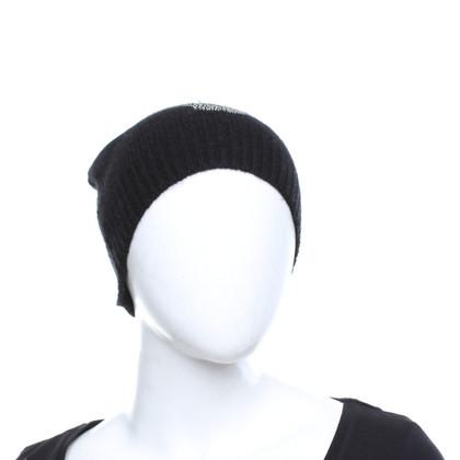Skull Cashmere Chapeau en cachemire avec bordure en fourrure