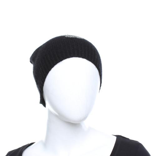c9b706961dab8 Skull Cashmere Cashmere hat with fur trim - Second Hand Skull ...