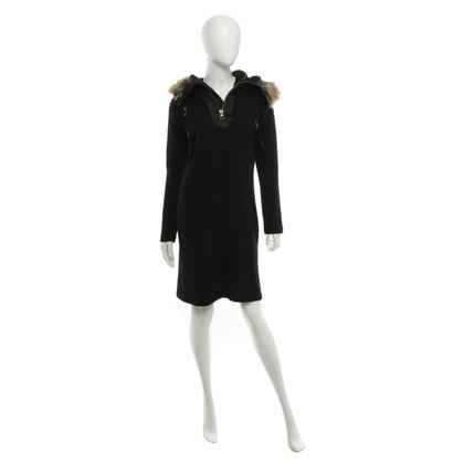 Comme des Garçons Hooded dress in black