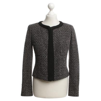 Chanel Bouclé-Blazer in Schwarz/Weiß