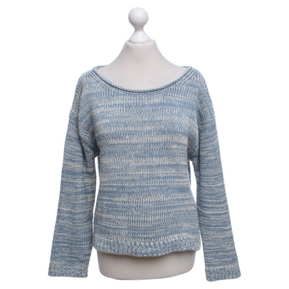 Acne Sweater in light blue and white