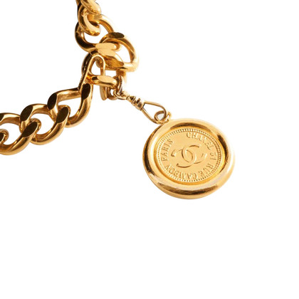 Chanel Gold Tone CC Medallion Chain Belt
