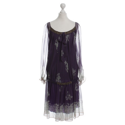 Philosophy di Alberta Ferretti Purple silk chiffon dress