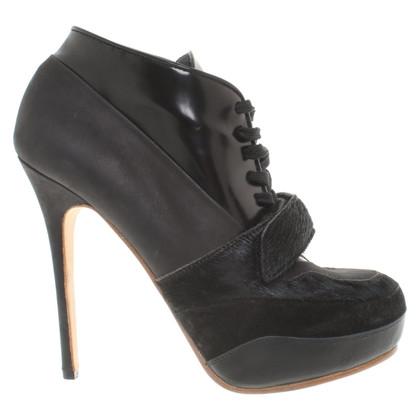 Acne Stivali della piattaforma in nero