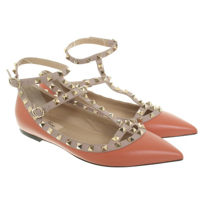 Valentino Rockstud ballerinas in orange