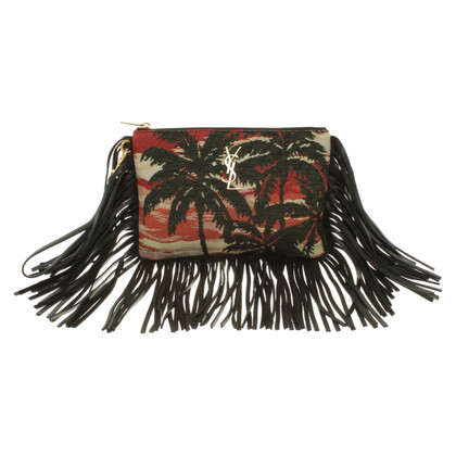 Saint Laurent clutch with woven pattern