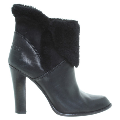 Christian Dior Sheepskin ankle boots