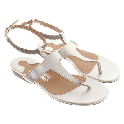 Salvatore Ferragamo Silver colored sandals