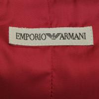 Armani Jeans Samtblazer in Dunkelrot