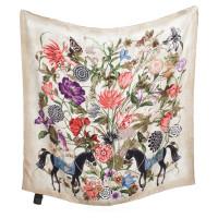 Gucci Seidentuch mit Blumen-Motiv