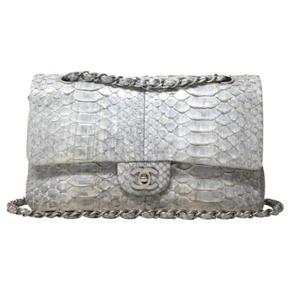 Chanel 2.55 Medium silver python