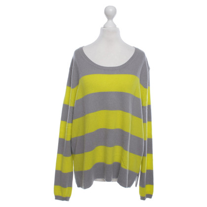 FTC Cashmere sweaters in gray / yellow