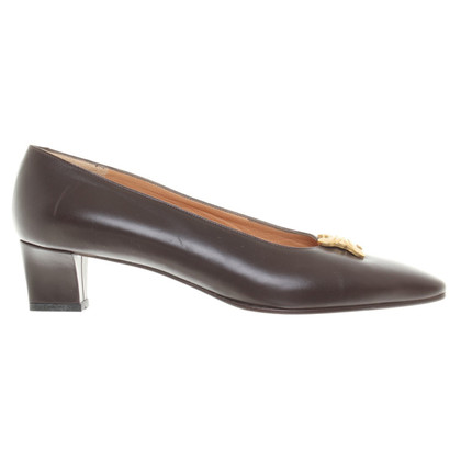 Céline Pumps in Dunkelbraun