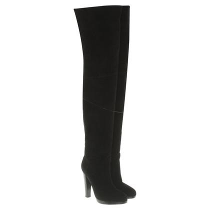 Hermès Overknees in zwart