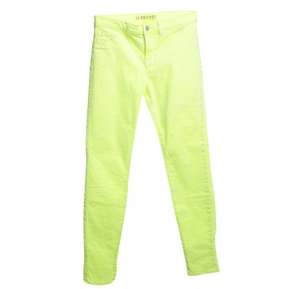 J Brand trousers in neon yellow