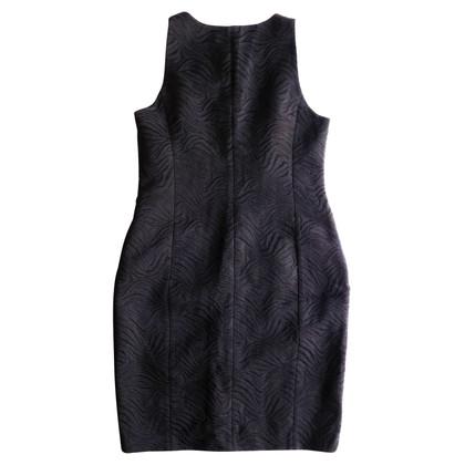 Michael Kors Schwarzes Jacquard-Kleid