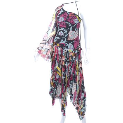 Givenchy Chiffon geplooide jurk