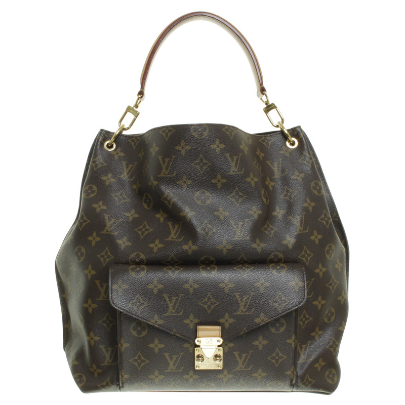 louis vuitton shoulder bag of of metis from monogram of canvas buy second hand louis vuitton. Black Bedroom Furniture Sets. Home Design Ideas