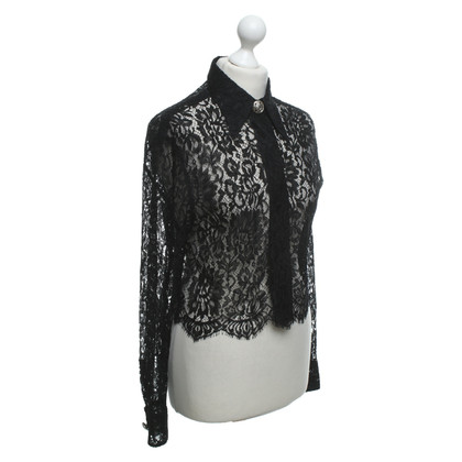 Versace Lace top in black