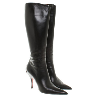 Cesare Paciotti Leather boots in black